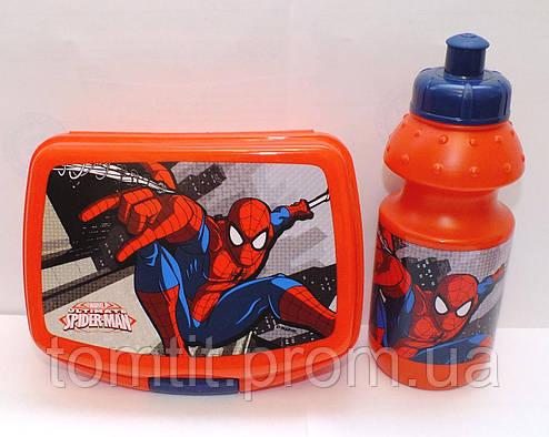"Набор ""Spiderman (Человек паук)"". Ланч бокс (ланчбокс) + бутылка, фото 2"