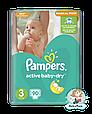 Подгузники Pampers Active Baby-Dry Размер 3 (Midi) 5-9 кг, 90 подгузников, фото 2