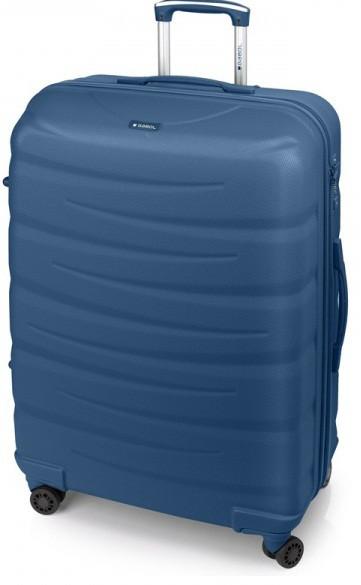 Большой чемодан Gabol Trail 924934 пластик синий 85 л, 4 колеса