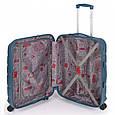 Большой чемодан Gabol Trail 924934 пластик синий 85 л, 4 колеса, фото 2