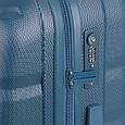 Большой чемодан Gabol Trail 924934 пластик синий 85 л, 4 колеса, фото 4