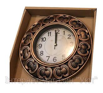 Настенные часы c фигурной рамкой Quartz(белый, коричневый)