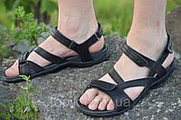 Босоножки, сандали мужские черные мягкие, удобные натуральная кожа (Код: Ш799)