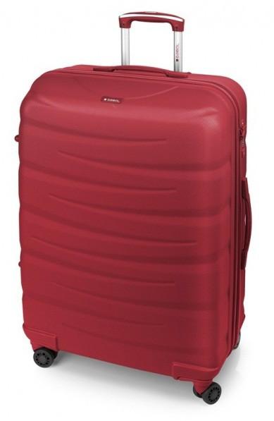Большой чемодан Gabol Trail 924890 пластик красный 85 л, 4 колеса