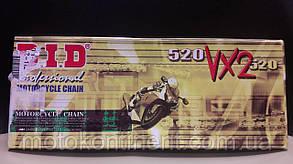 Мото ланцюг 520 DID 520VX2 116 сталева (чорна) для мотоцикла сальники типу X-Ring, фото 2