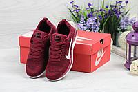 Nike Free Run 4 0 женские кроссовки бордовые (Реплика ААА+), фото 1