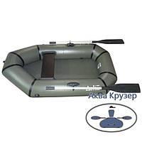 Лодка надувная ПВХ легкая гребная одноместная omega Дельта Ω 190 L, цвет хаки, фото 1