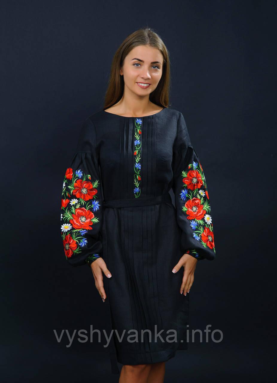 Черное женское платье вышиванка 335cd2f071c87