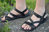Босоножки, сандали мужские черные мягкие, удобные натуральная кожа (Код: Б799)