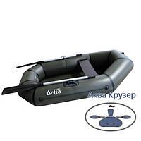 Лодка надувная пвх легкая гребная Дельта (Delta) Ω 210 L