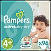 Подгузники Pampers Active Baby-Dry Размер 4+ (Maxi+) 9-16 кг, 96 подгузника