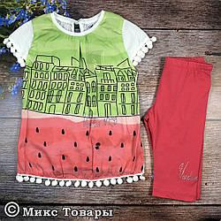 Костюм с футболкой для девочек Размеры: 3,4,5,6 лет (6317-3)