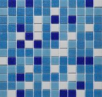 Сине-голубая мозаика для ванны и бассейна Vivacer GLmix1