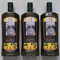 Греческое Оливковое Масло KALAMATA HPA Extra Virgin (первый отжим) ORGANIC Premium, 1л – стекло Оливкова олія