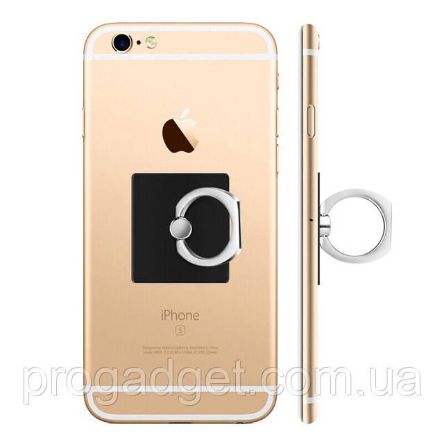 Кольцо держатель для iphone, смартфона, телефона от YOMO black (черное)