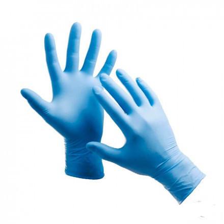"""Перчатки нитриловые голубые размер """" S """""""