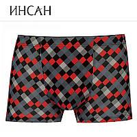 Мужские боксеры стрейчевые марка «ИНСАН» Арт.INS-818