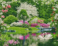 """Набір для алмазної мозаїки """"Чарівна весна"""" 40х50см  GF1271, фото 1"""
