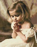 """Набір для алмазної мозаїки """"Дівчинка ангелочок"""" 40х50см GF942, фото 1"""