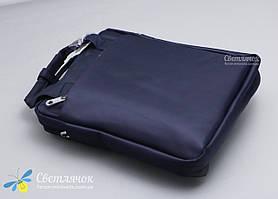 Сумка планшет мужская текстильная через плечо синяя POLO, фото 3