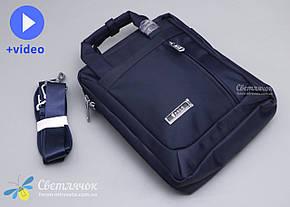 Сумка планшет мужская текстильная через плечо синяя POLO, фото 2