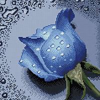 """Набір для алмазної мозаїки 30х30см """"Троянда синя"""" DF063"""