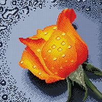 "Набір для алмазної мозаїки 30х30см ""Троянда оранжева"" DF064"