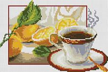 """ДТ 702. Набор  алмазной мозаики 20х30 """"Чай с лимоном"""" CF154"""
