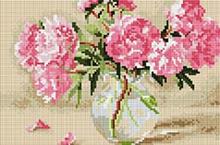 """Алмазна мозаїка 20х30 """"Рожеві піони"""" CF083"""