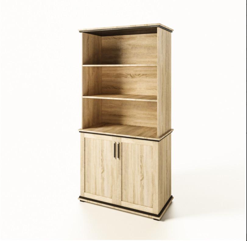 Книжкова шафа в дитячу кімнату з ДСП/МДФ Палермо дуб сонома Світ Меблів