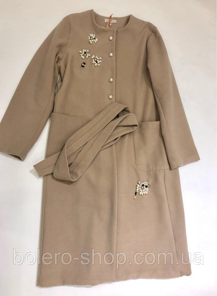 61e4a004973 Пальто Италия Mary Daloia беж - Магазин брендовой женской и мужской одежды