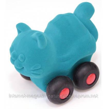 Игрушка  из каучука Rubbabu Котик на колесах