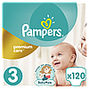 Подгузники Pampers Premium Care Размер 3 (Midi) 5-9 кг, 120 подгузников