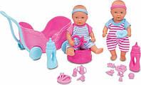 Пупсы-близнецы мини New Born Baby с коляской и аксессуарами, 12 см  5032367