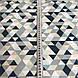 Хлопковая детская бязь польская треугольники мелкие синие, голубые, бежевые, бирюзовые №58, фото 3