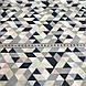Хлопковая детская бязь польская треугольники мелкие синие, голубые, бежевые, бирюзовые №58, фото 4