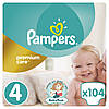 Подгузники Pampers Premium Care Размер 4 (Maxi) 8-14 кг, 104 подгузников