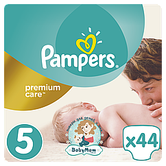 Подгузники Pampers Premium Care Размер 5 (Junior) 11-18 кг, 44 подгузников