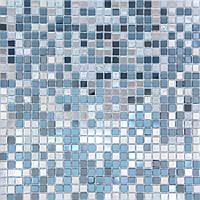 Голубая зеркальная мозаика с белым Vivacer MS01