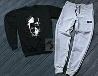 Спортивный костюм, BAD BOY (черный + серый), Реплика