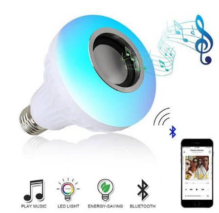 Беспроводной Bluetooth Динамик-лампа меняющая свет! Колонка блютуз на пульте управления!, фото 2