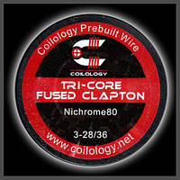Coilology Tri-Core Fused Clapton 3*0.32/0.13mm  Ni80, фото 1