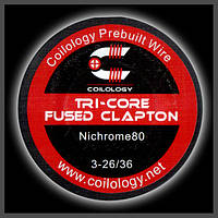 Coilology Tri-Core Fused Clapton 3-0.4/0.13mm, фото 1