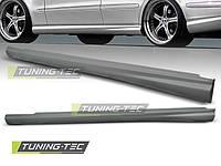 Накладки на пороги тюнинг обвес Mercedes W211 стиль E55 AMG