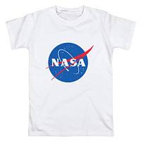 """Футболка NASA белая с логотипом, унисекс (мужская,женская,детская) """""""" ТОП Реплика """""""""""