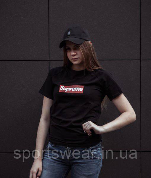 """Футболка Supreme черная,унисекс (мужская,женская,детская) """""""" В стиле Supreme """""""""""