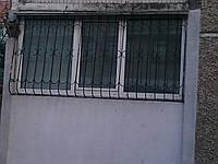 Балконная пластиковая рама 2520х1470 REHAU Euro-Design 60 с одной створкой по центру, фото 1