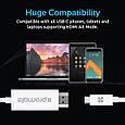 Кабель Promate uniLink-H1 HDMI - USB Type-C 1.8 м White, фото 3