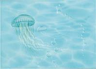 Декор ЛАЗУРЬ медуза 25x35 бирюзовый