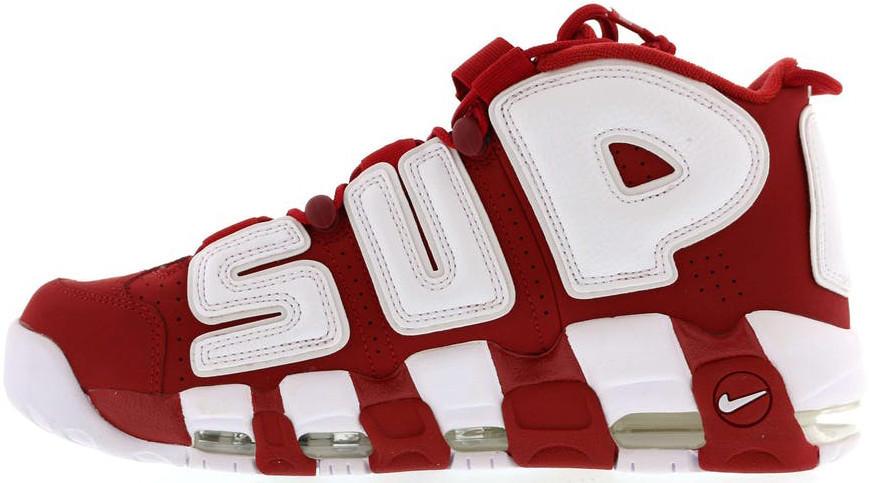Кроссовки мужские Nike Air More Uptempo  Red/White. ТОП Реплика ААА класса.
